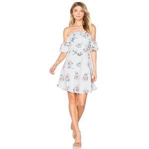 NWT J.O.A. Floral Cold Shoulder Halter Dress